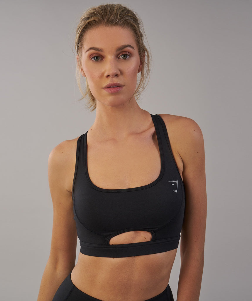 Gymshark Sleek Sculpture Sports Bra - Black 2