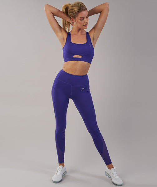 Gymshark Sleek Sculpture Sports Bra - Indigo 3