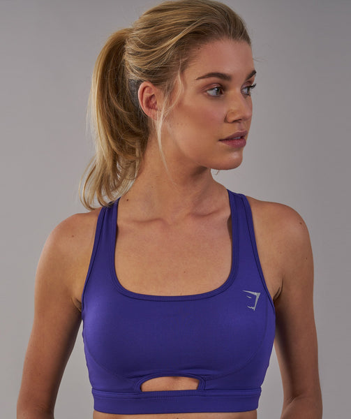 Gymshark Sleek Sculpture Sports Bra - Indigo 1