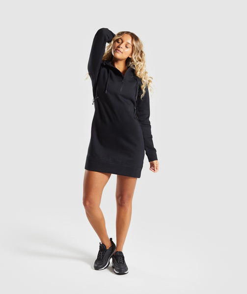 Gymshark Slim Fit Hooded Dress - Black 3