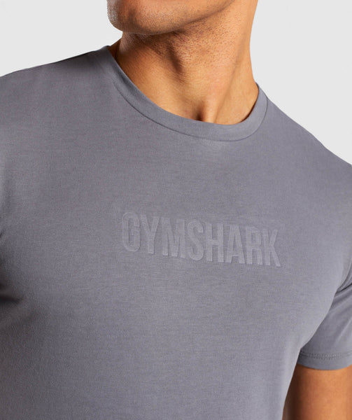Gymshark Stamped Logo T-Shirt - Smokey Grey 4
