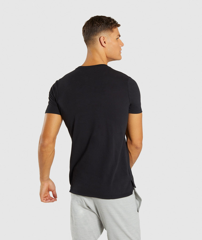 Gymshark Stamped Logo T-Shirt - Black 2