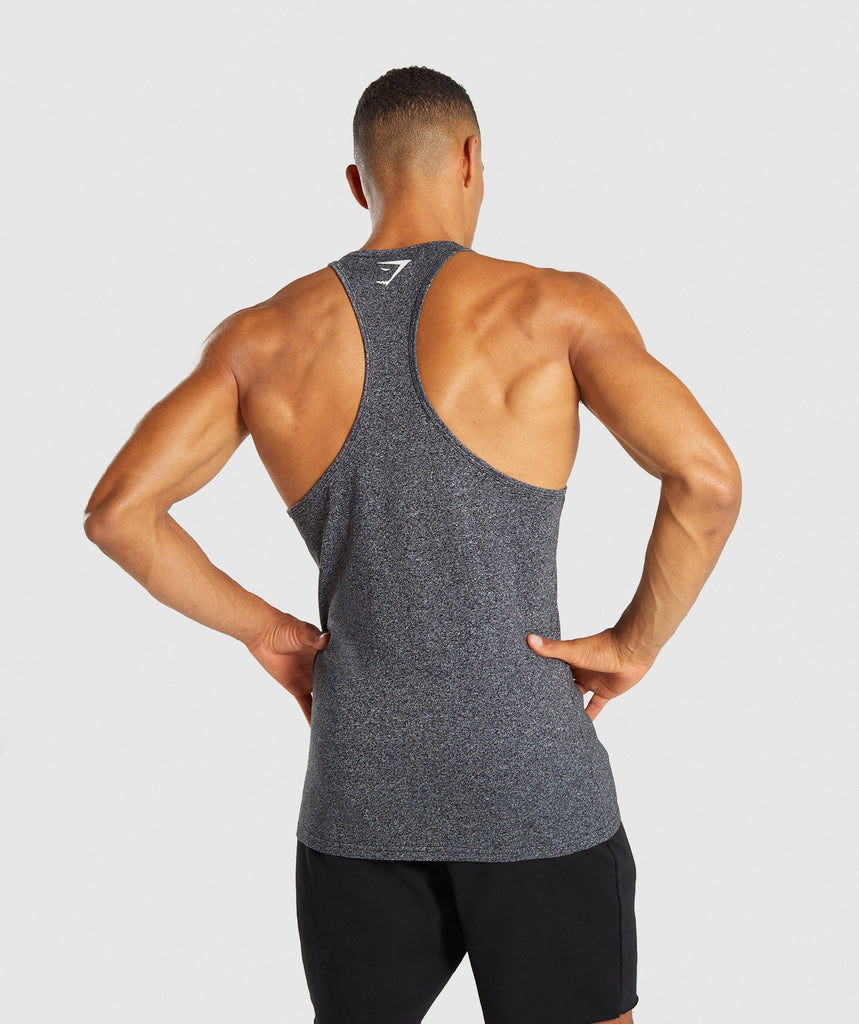 Gymshark Statement Stringer - Black Marl 2