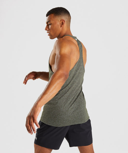 Gymshark Statement Stringer - Woodland Green Marl 1