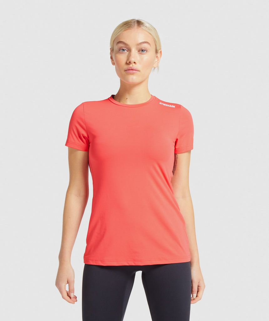 Gymshark Training Tee - Red 1