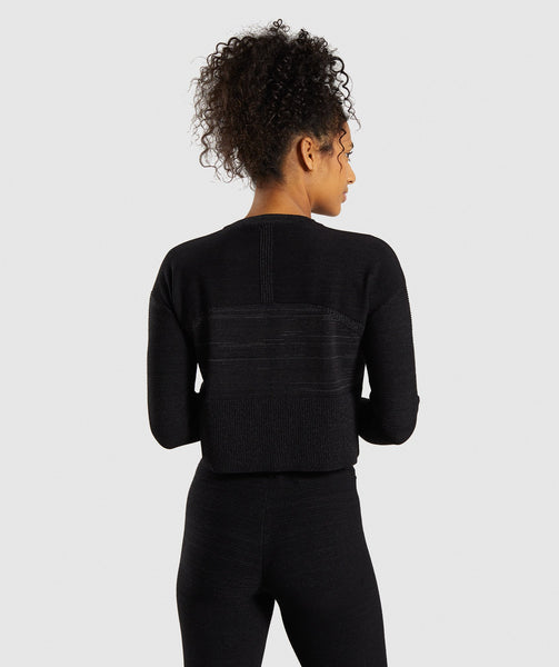 Gymshark Time Out Knit Sweater - Black Marl 1