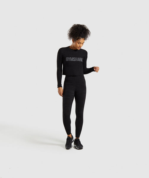 Gymshark Time Out Knit Sweater - Black Marl 3