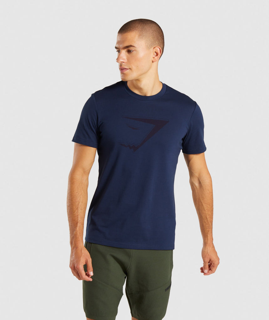 Gymshark Tonal T-Shirt - Dark Blue 1