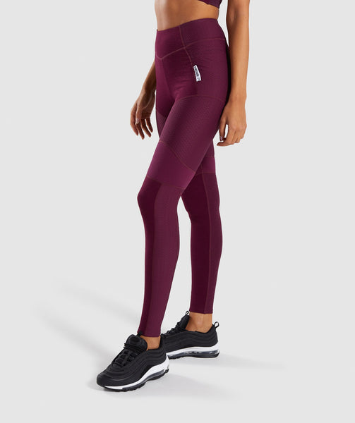 Gymshark True Texture Leggings - Dark Ruby 2