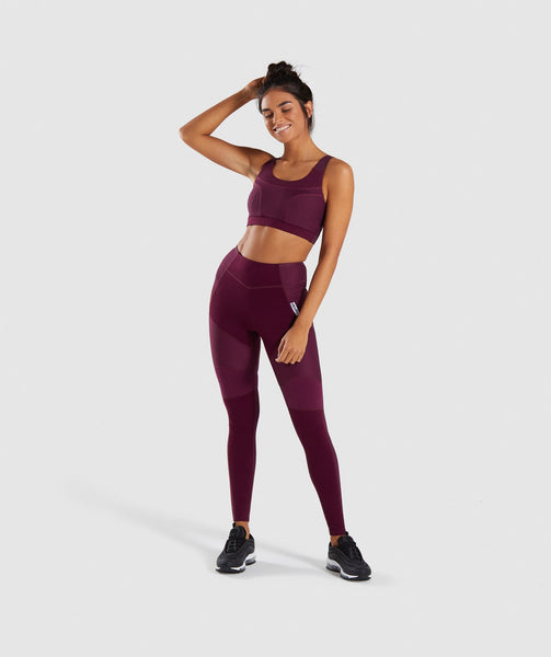 Gymshark True Texture Leggings - Dark Ruby 3