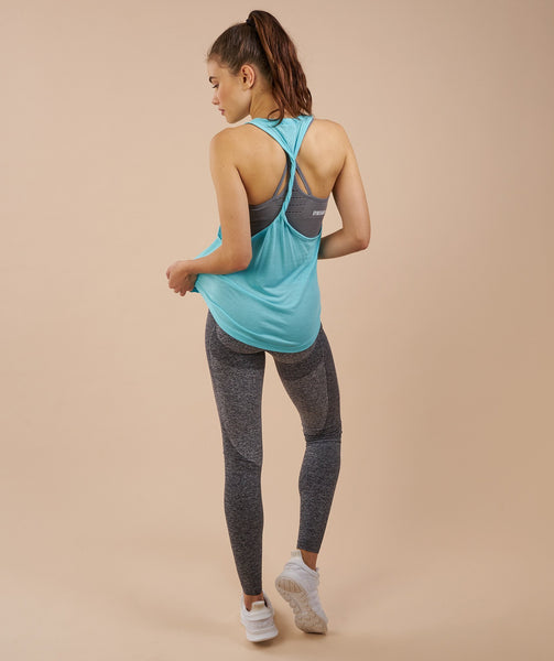 Gymshark Twist Back Vest - Marine Blue 1