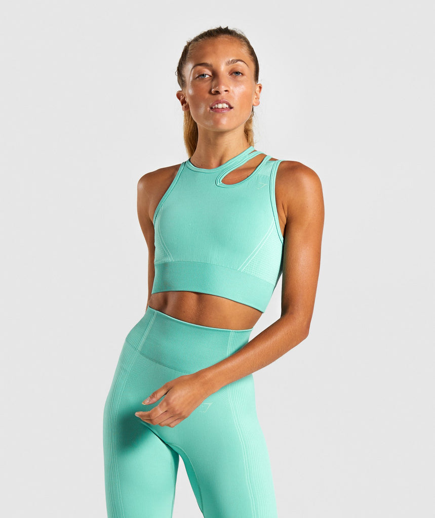 Gymshark Ultra Seamless Sports Bra - Green 1