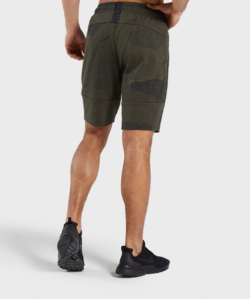 Gymshark Ultra Jacquard Shorts - Woodland Green 1