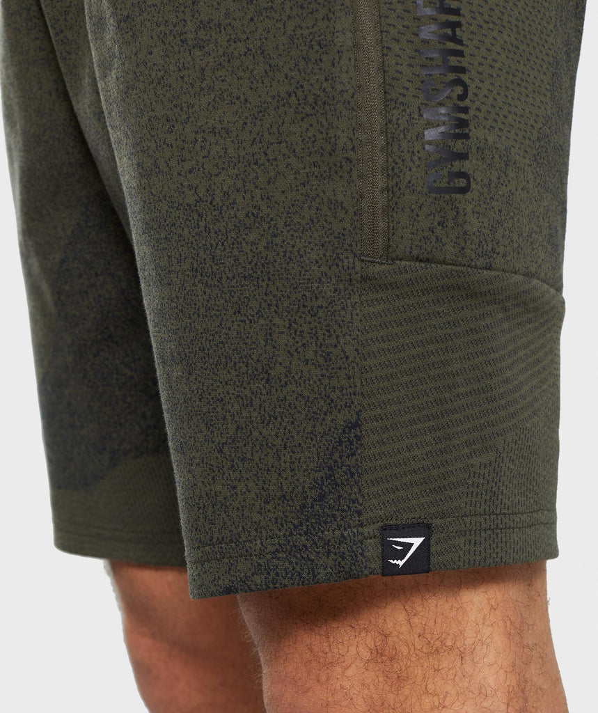 Gymshark Ultra Jacquard Shorts - Woodland Green 5