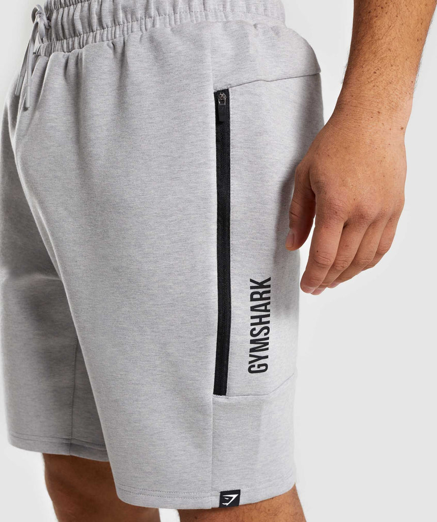Gymshark Ultra Shorts - Light Grey Marl 5