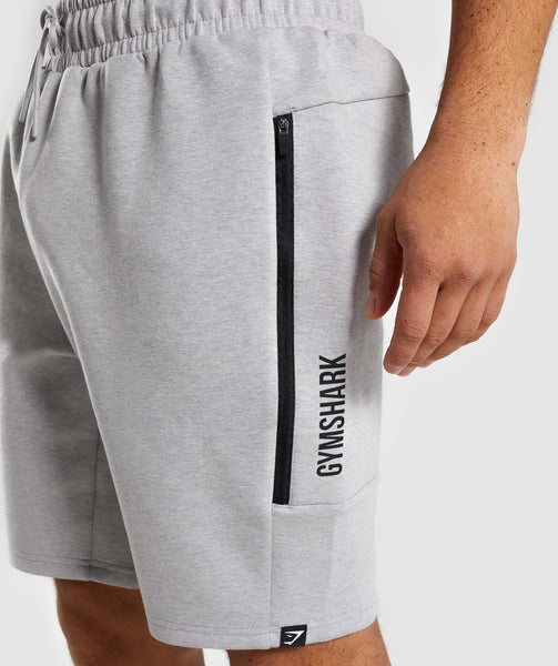 Gymshark Ultra Shorts - Light Grey Marl 4