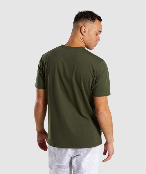 Gymshark Ultra Jacquard T-Shirt - Woodland Green 1