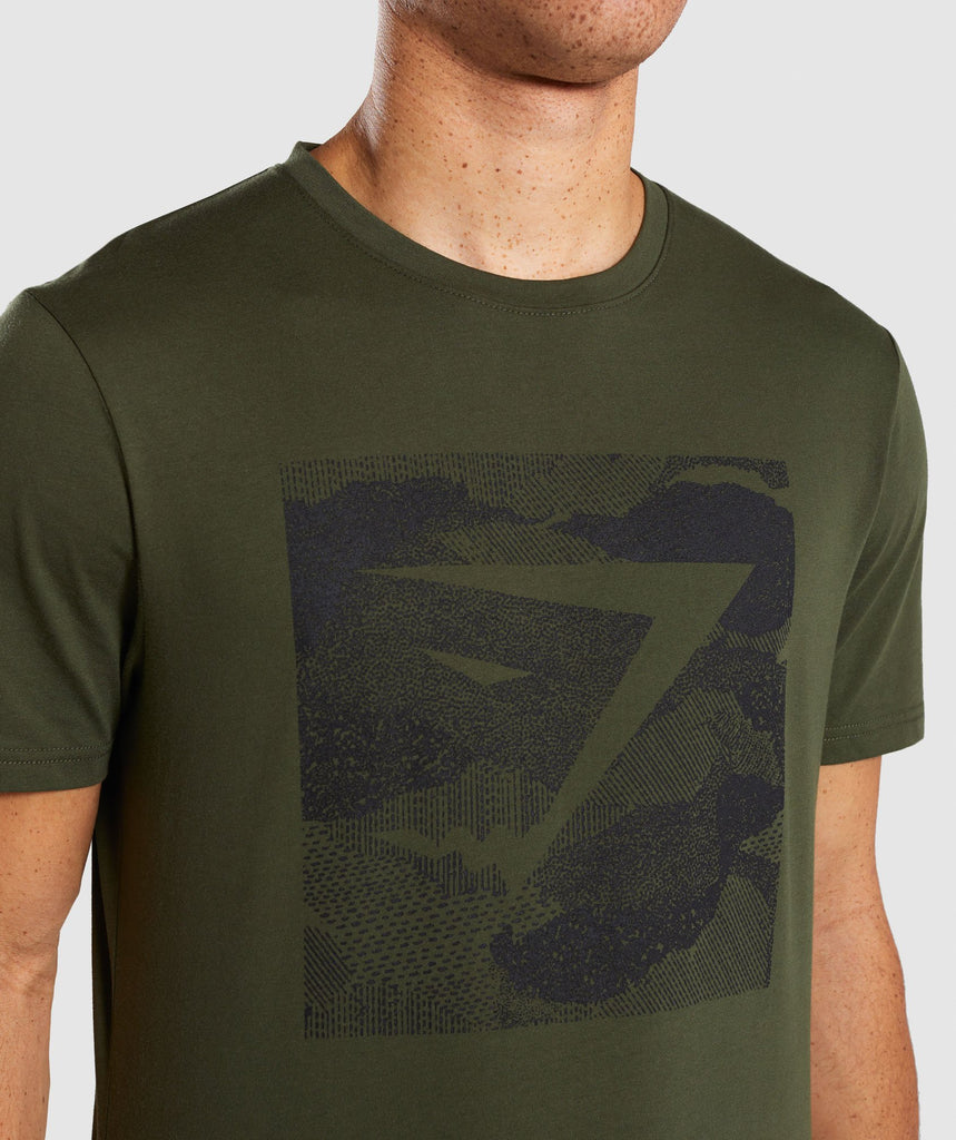 Gymshark Ultra Jacquard T-Shirt - Woodland Green 5