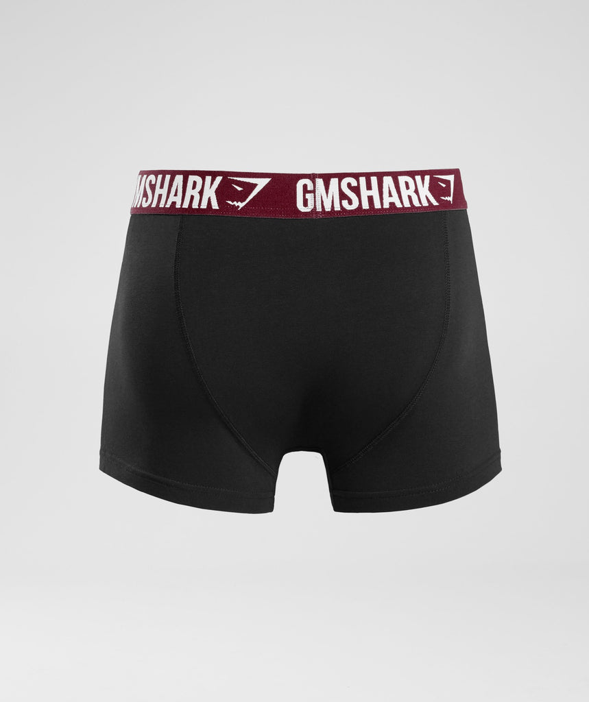 Gymshark Mens Trunks 2pk - Black/Port 2