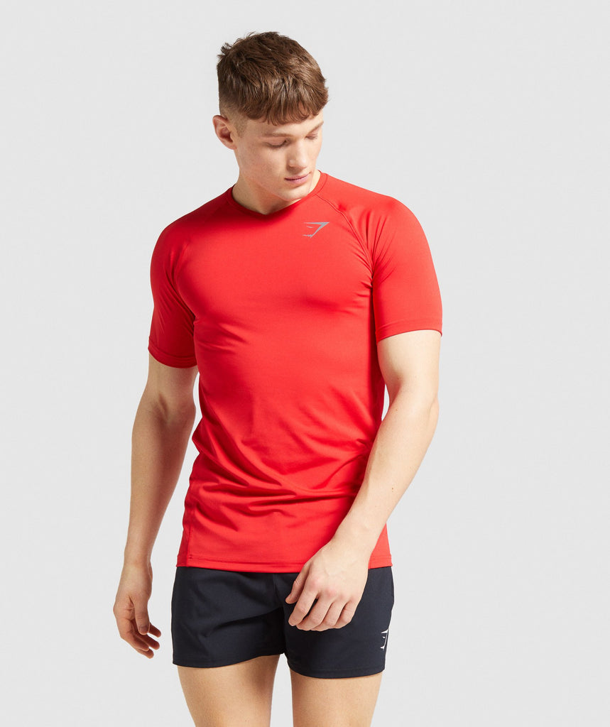 Gymshark Veer T-Shirt - Red 1