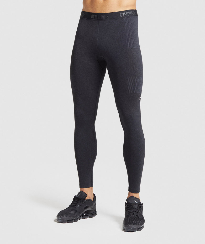 Gymshark Vital Seamless Leggings - Black Marl 1