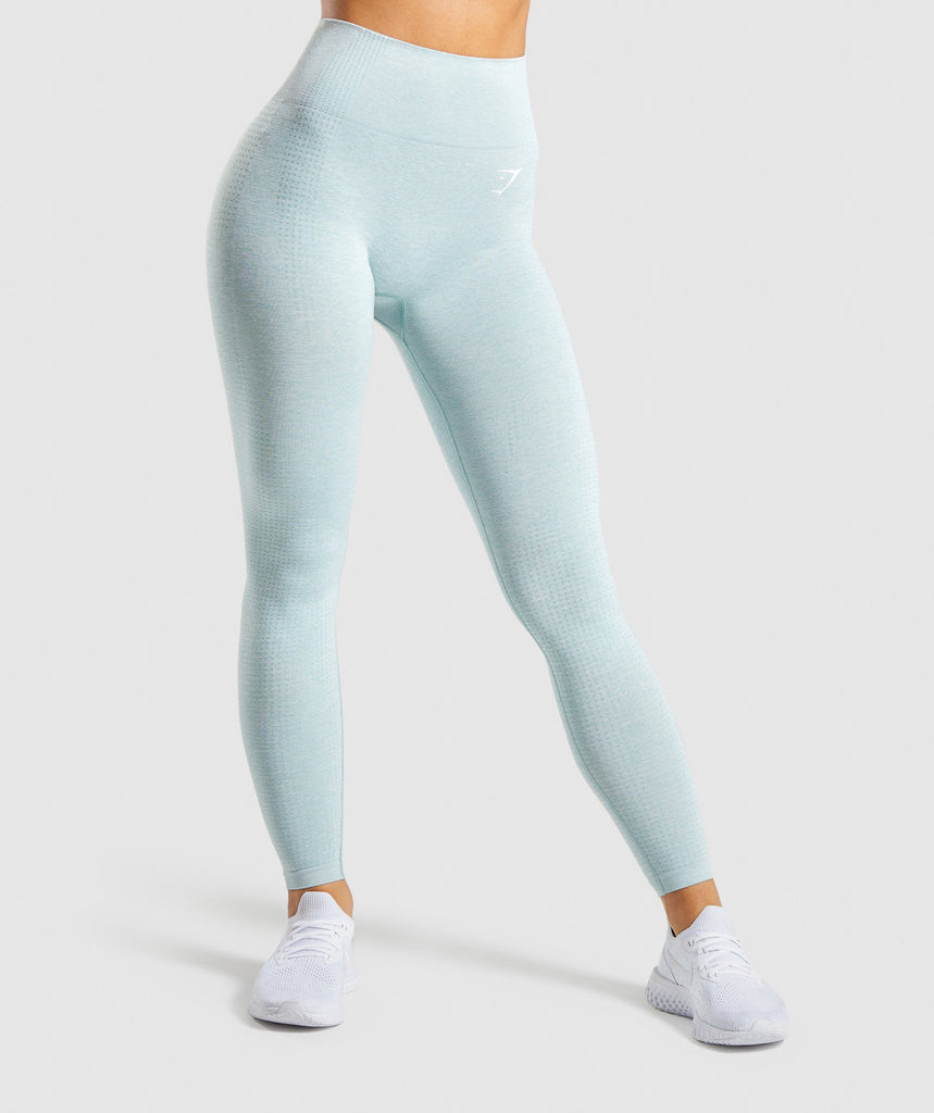 Gymshark Vital Seamless Leggings - Light Green Marl 1