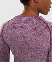 Gymshark Vital Seamless Long Sleeve Crop Top - Purple 12