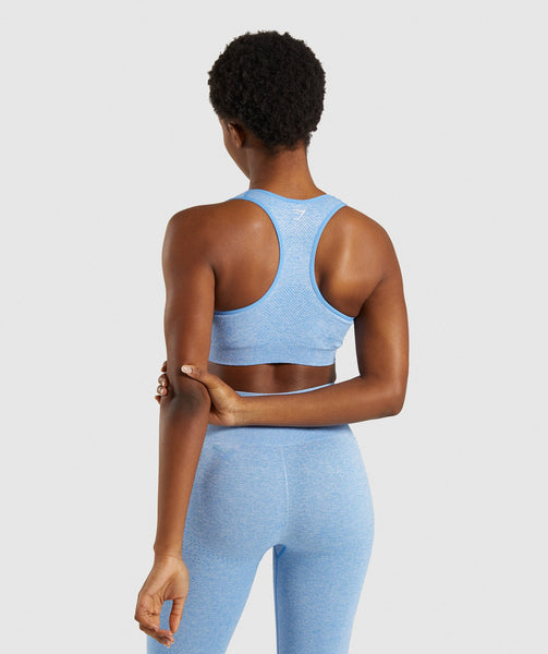 Gymshark Vital Seamless Sports Bra - Blue 1