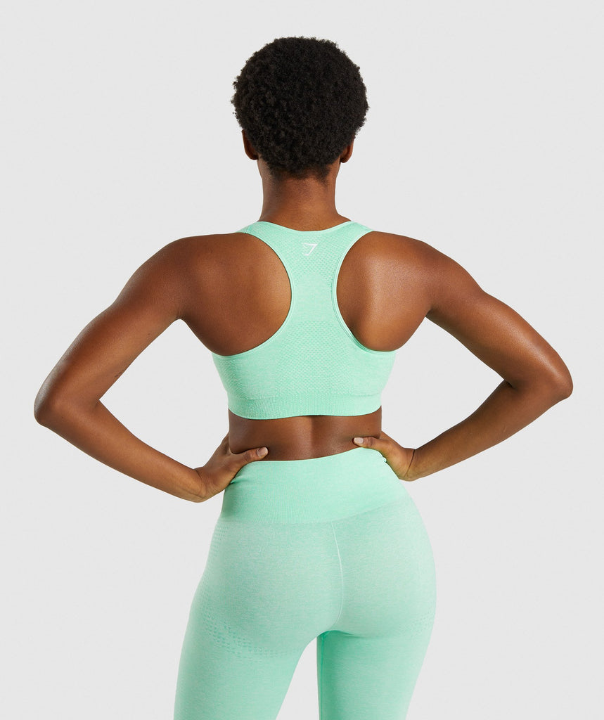 Gymshark Vital Seamless Sports Bra - Green 2