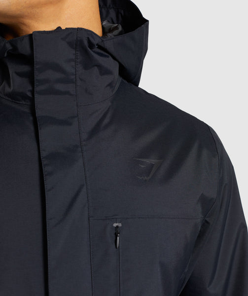 Gymshark Vortex Waterproof Jacket - Black 3