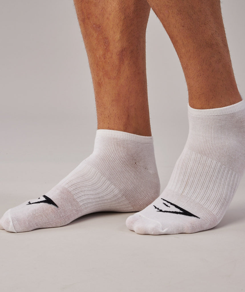 Gymshark Mens Trainer Socks 3pk - White