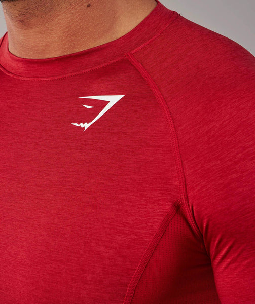 Gymshark Element Baselayer Long Sleeve Top - Deep Red 3