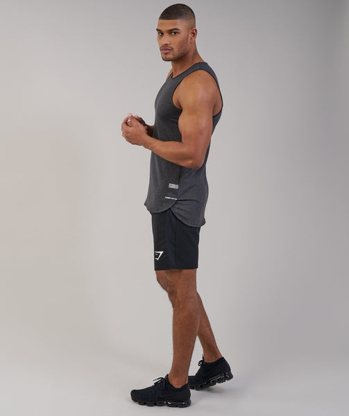 Gymshark Breathe Tank - Black Marl 3