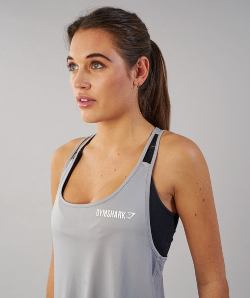Gymshark Cropped Tech Vest - Light Grey 4