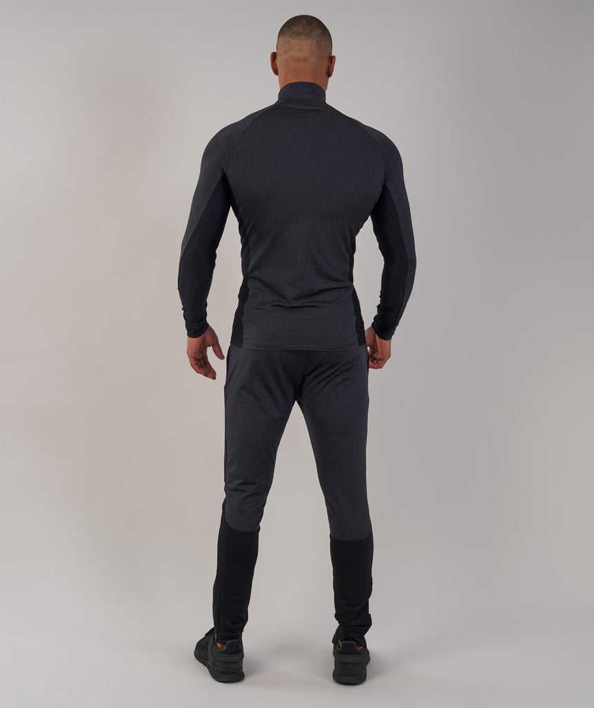 Gymshark Fallout 1/4 Zip Pullover - Black Marl 2