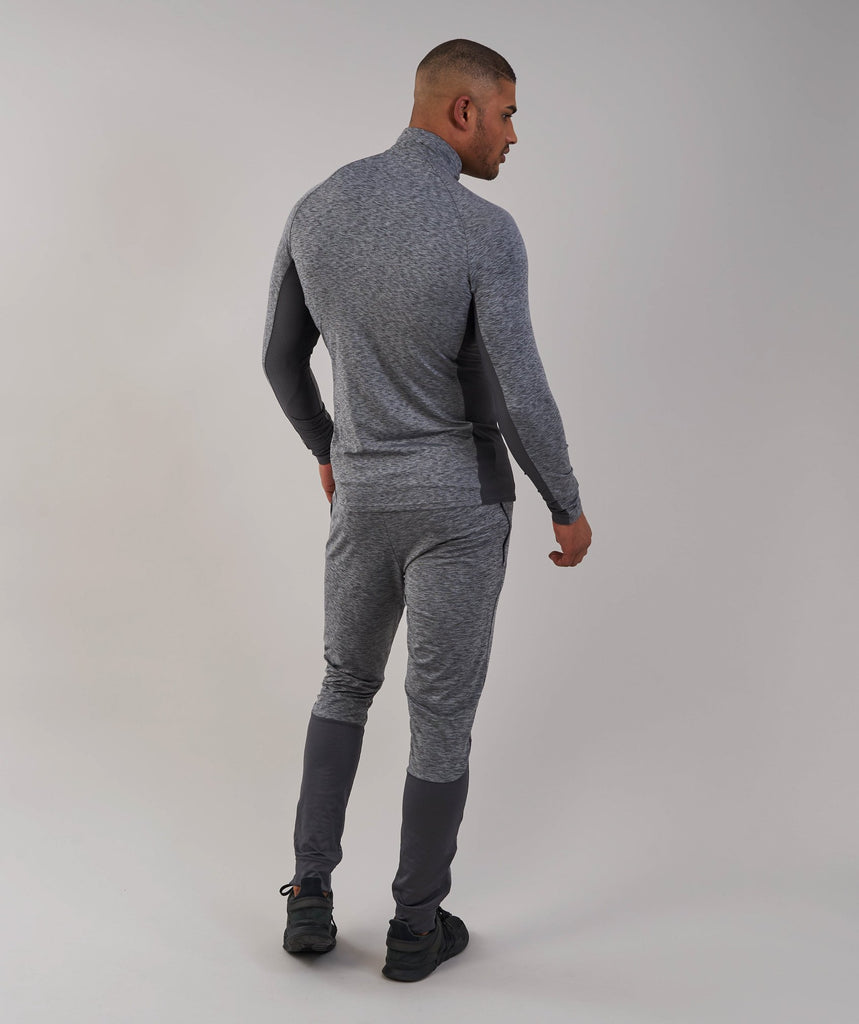 Gymshark Fallout 1/4 Zip Pullover - Charcoal Marl 2