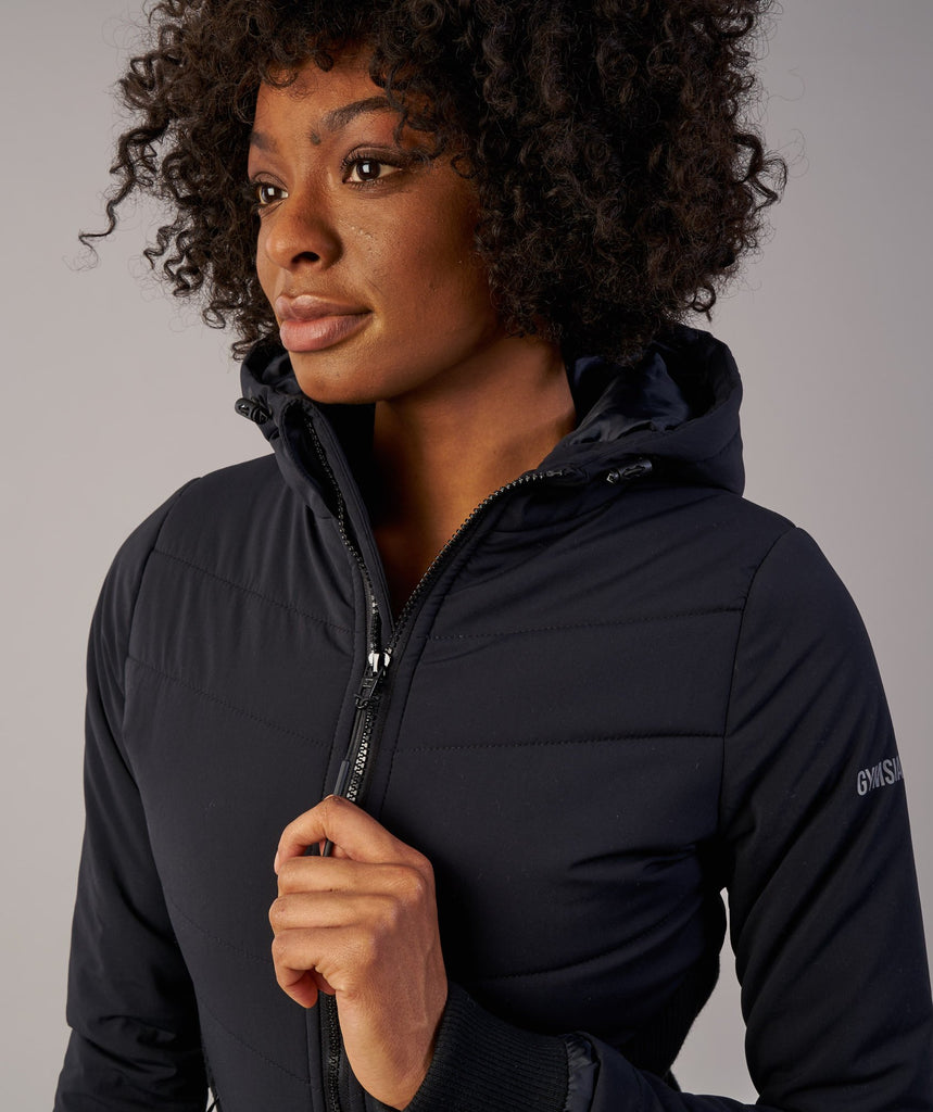 Gymshark Mellow Fitted Puffer Jacket - Black 5