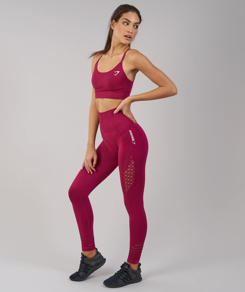Gymshark Seamless Energy High Waisted Leggings - Beet 4