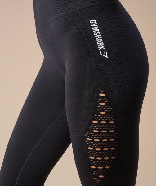 Gymshark Seamless Energy High Waisted Leggings - Black 4