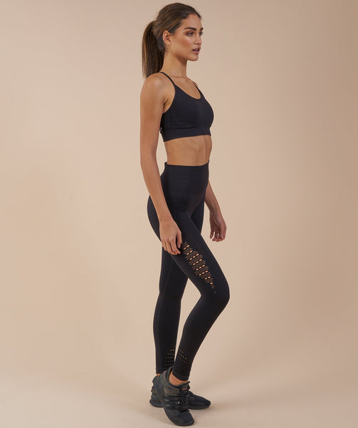 Gymshark Seamless Energy High Waisted Leggings - Black 2
