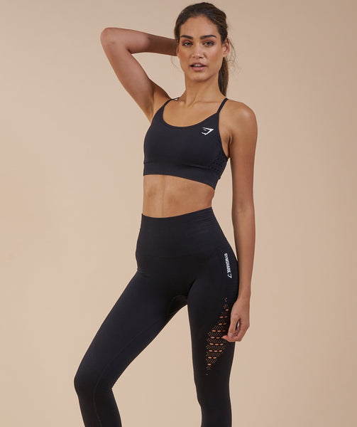 Gymshark Seamless Energy High Waisted Leggings - Black 3