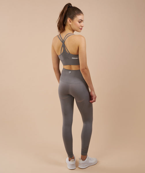 Gymshark High Waisted Seamless Leggings - Slate Grey Marl 1