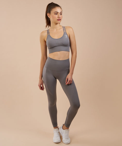 Gymshark High Waisted Seamless Leggings - Slate Grey Marl 4