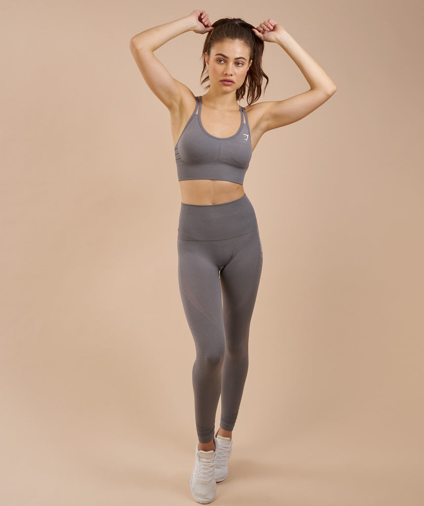 Gymshark High Waisted Seamless Leggings - Slate Grey Marl 5