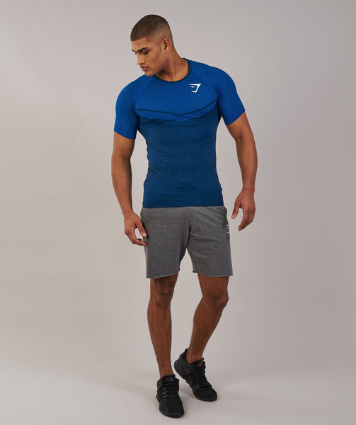 Gymshark Performance Seamless T-Shirt - Dive Blue Marl 3