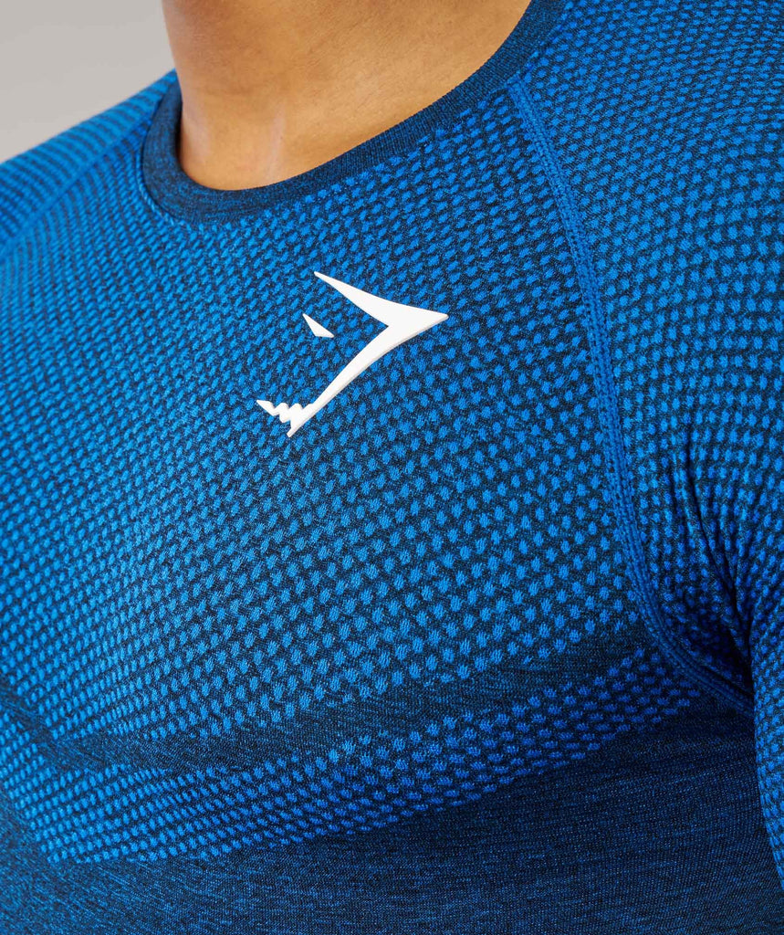 Gymshark Performance Seamless T-Shirt - Dive Blue Marl 5