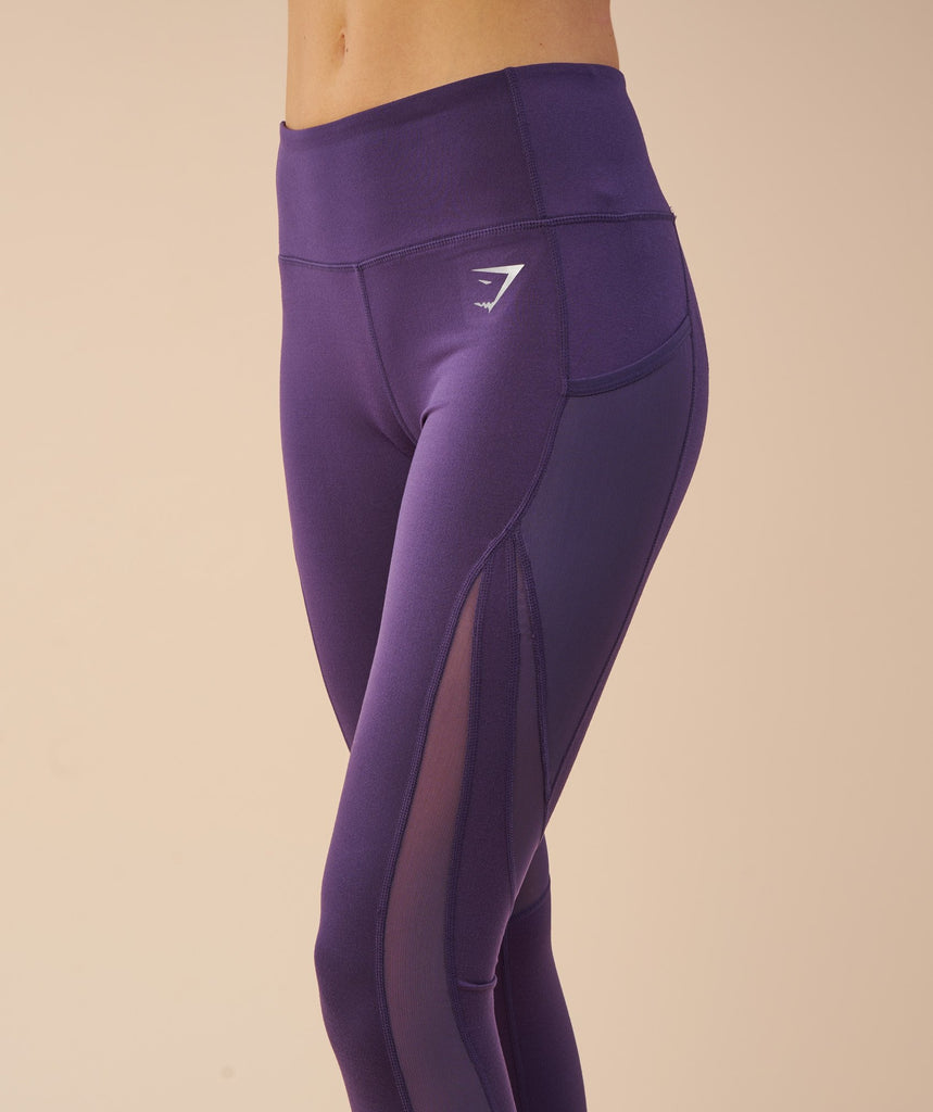 Gymshark Sleek Sculpture Leggings - Rich Purple 6