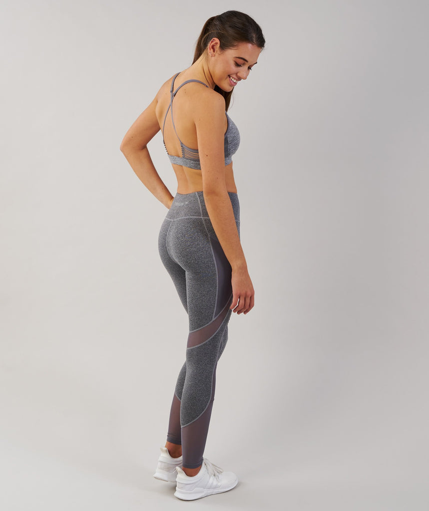 Gymshark Sleek Sculpture Leggings - Charcoal Marl 2