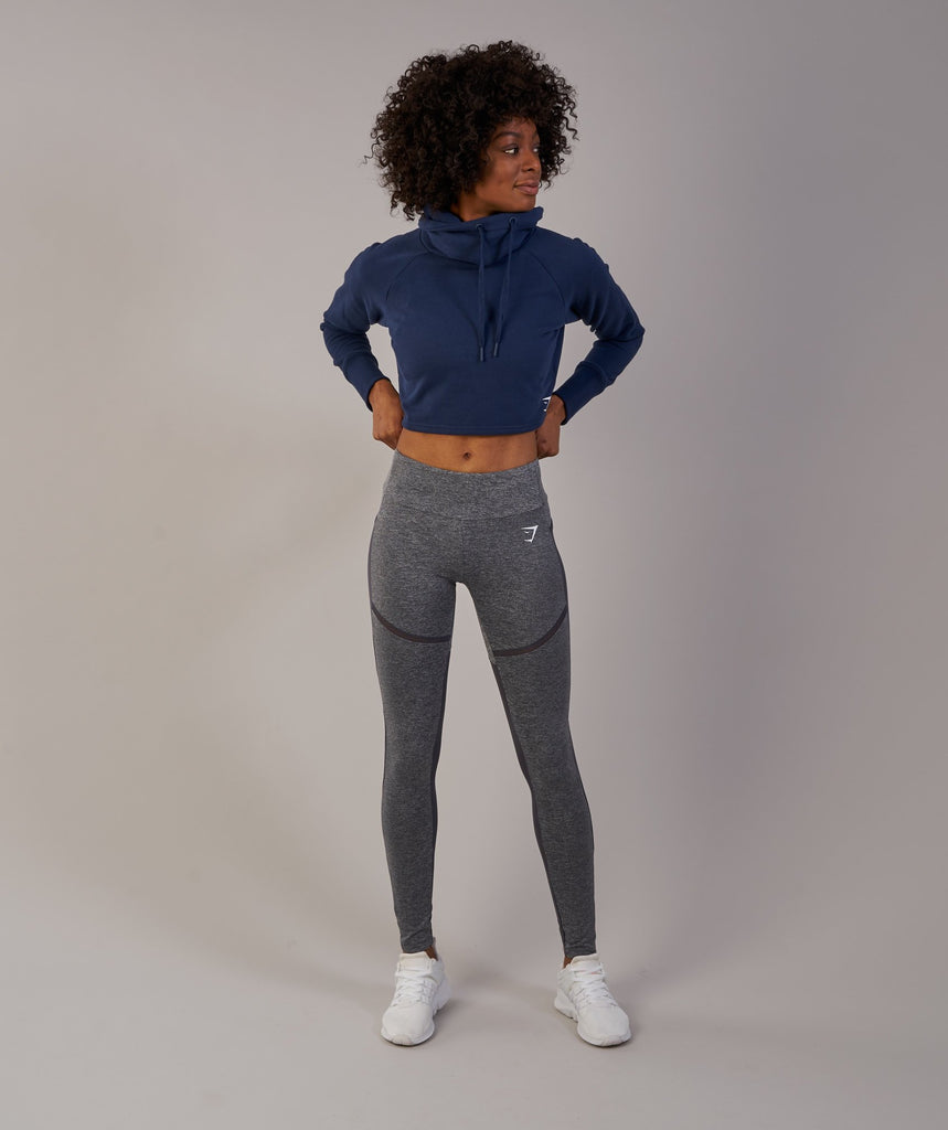 Gymshark Slouch Cropped Hoodie - Sapphire Blue 1