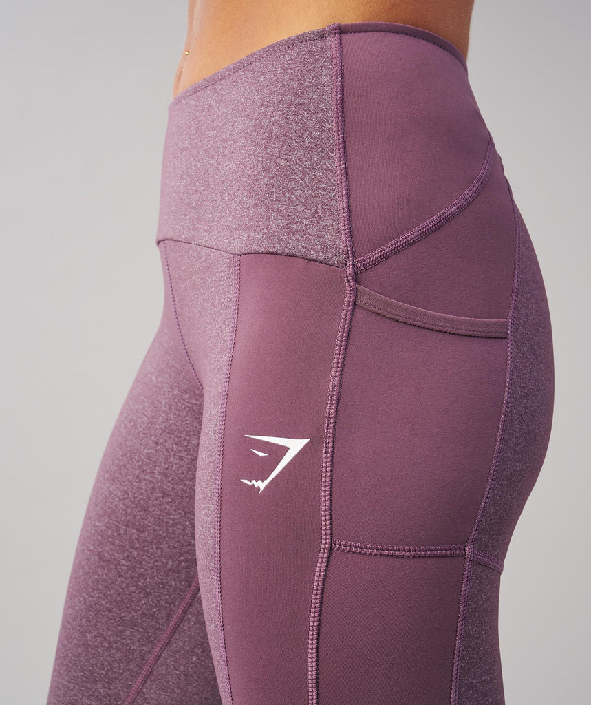 Gymshark Textured Leggings - Purple Wash 5
